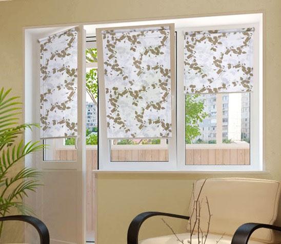 Как выбрать рулонные жалюзи на пластиковые окна?